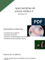 8 Principais Bactérias de Interesse Médico II