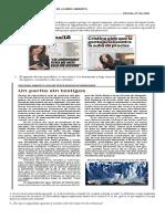 Evaluación segmentos del relato periodístico y argumentación encubierta
