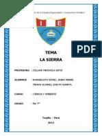 El Relieve de La Sierra Republica Argentina