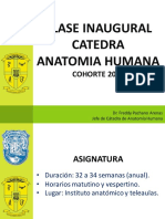 Clase inaugural Anatomía Humana 2018