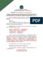 9. Modelo de Portaria de Designação de Comissão Técnica Especial