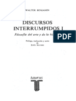 Discursos interrumpidos I Benjamin W