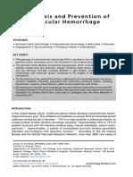 Pathogenesis and Prevention of Intraventricular Hemorrhage