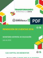 Rendicion de Cuentas Sector Educacion 2018