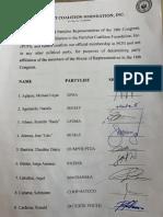 Party-list Coalition Foundation Inc Manifesto on Its Membership
