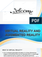 Ppt on Virtual Reality and Augmented Reality