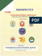 Final Prospectus Centralised Online Admission 2018-19