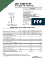 Datasheet diodo 1N4001