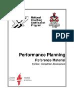 Performance Planning Ref Mat
