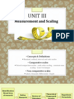 Measurement and Scales for Researcjh