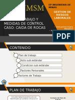 PLAN DE TRABAJO CASO CAIDA DE ROCAS