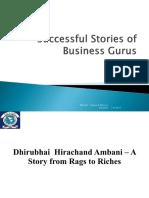 Successful stories os business gurus