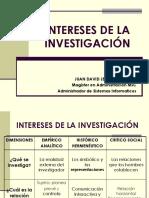 Intereses de La Investigacion