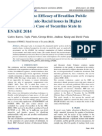 Investigating the Efficacy of Brazilian Public Policies for Ethnic-Racial issues in Higher Education