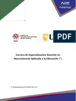 Especialización Docente en Neurociencias Aplicada a La Educación