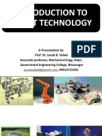 Introduction to Robot Technology- Dr. Janak Valaki