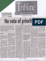 Daily Tribune, Aug. 7, 2019, No veto of priority bills.pdf