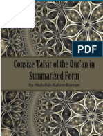 Cosize Tafsir of the Qur'an in Summarized Form by Abdullah Rahim Roman