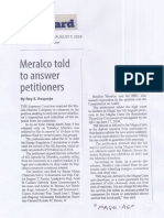 Manila Standard, Aug. 7, 2019, Meralco told to answer petitioners.pdf