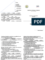 Summative Test English Q1 Booklet