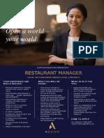 RMM-0045 - Restaurant Manager