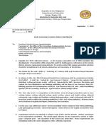 2018 Dspc Memorandum 1