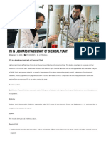ITI in Laboratory Assistant of Chemical Plant After 10th