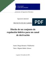 Diseño de Un Conjunto de Regulacion Hidrico Para Un Canal de Derivacion