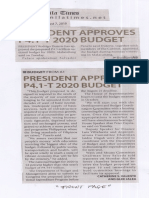 Manila Times, Aug. 7, 2019, President approves P4.1-T 2020 budget.pdf