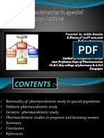 Pharmacokinetics in Special Populations