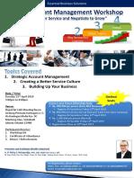 Strategic Account Management & Customer Service Workshop Brochure & Registration Form (23 April 2019)