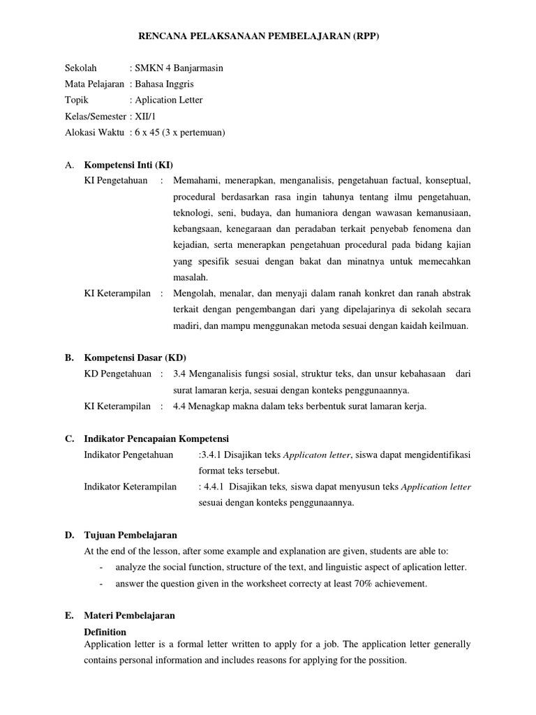 208 Contoh Surat Lamaran Kerja Dalam Bahasa Inggris Dan Bagian Bagiannya