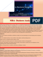 MBA- Business Analytics