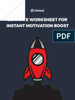 Ultimate Worksheet for Instant Motivation Boost