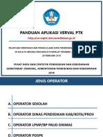 Pelatihan Verifikasi Dan Pengelolaan Data Pendidikan - Panduan Aplikasi VervalPTK