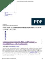 Técnica de Respiración Wim Hof Method - Iceman_ Superhá