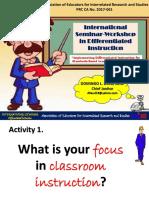AEIRS International Seminar in Diffrentiated Instruction AM 1st Day