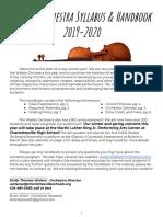 Walker Orchestra Handbook 2019-2020