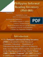 Philippine Informal Reading Inventory(Phil-iri)