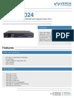 Vdsl2 Dslam Vx Md3024 Datasheet