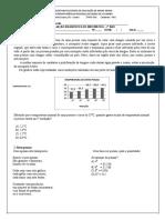 Avaliação Diagnóstica Matemática 7º Ano