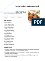 KFC_ is the Leaked Recipe the Real Deal_ - Rock Recipes