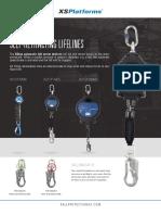 XSPlatforms Leaflet Self Retracting Lifelines
