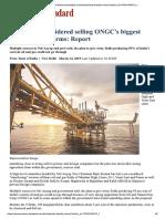 Govt Selling Ongc Oilfield