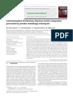 Characterisation of Titanium–Titanium Boride Composites Processed by Powder Metallurgy Techniques