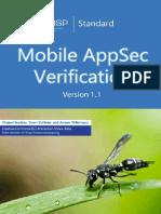 OWASP Mobile AppSec Verification