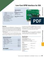 GPIB-PCII-IIA Data Sheet 4gpib681