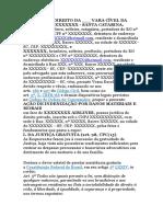 [Modelo] Ação de Indenização Por Danos Morais e Materiais (NCPC)