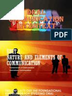 Unit I- Nature and Elements of Communication
