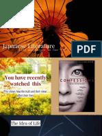 Week012 PowerpointPresentation Japanese Literature 2
